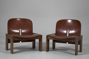Tobia Scarpa Pair of Chairs