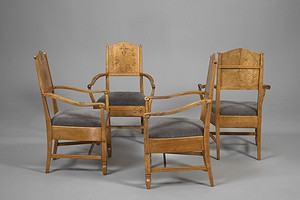 Four Arts and Crafts Armchairs