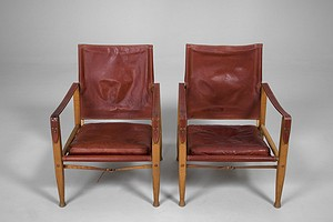 "Pair of Kaare Klint ""Safari"" Chairs"