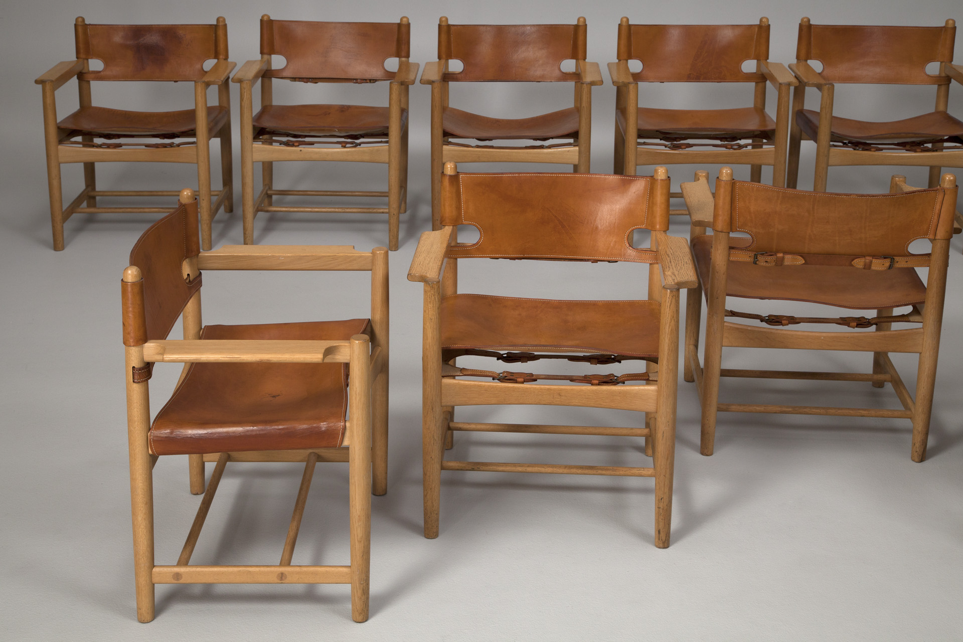 Jacksons Set of Ten Hunting Chairs B¸rge Mogensen