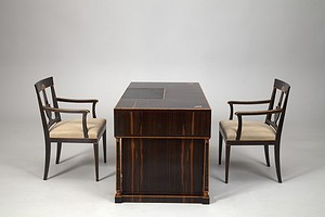Neoclassical Desk and Chairs