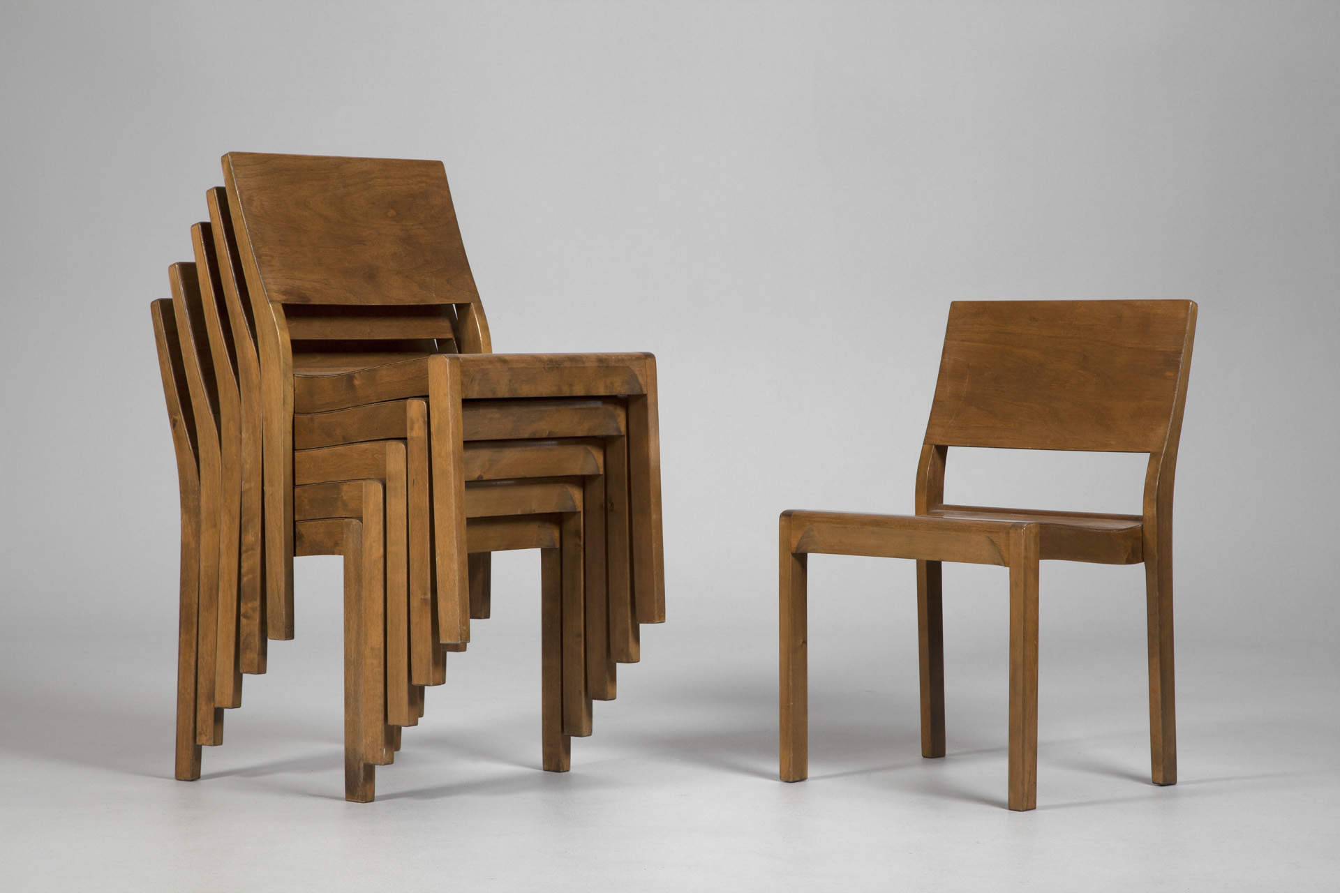 Jacksons Stackable Model 611 Chairs Alvar Aalto