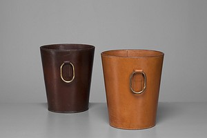 Leather Paper Bins