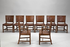 Set of Eight Klint Chairs