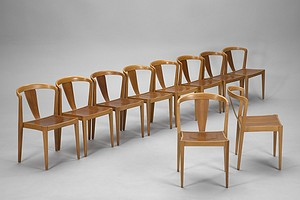 Set of Ten Stacking Chairs
