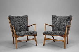 Hans J. Wegner A Pair Of Easy Chairs