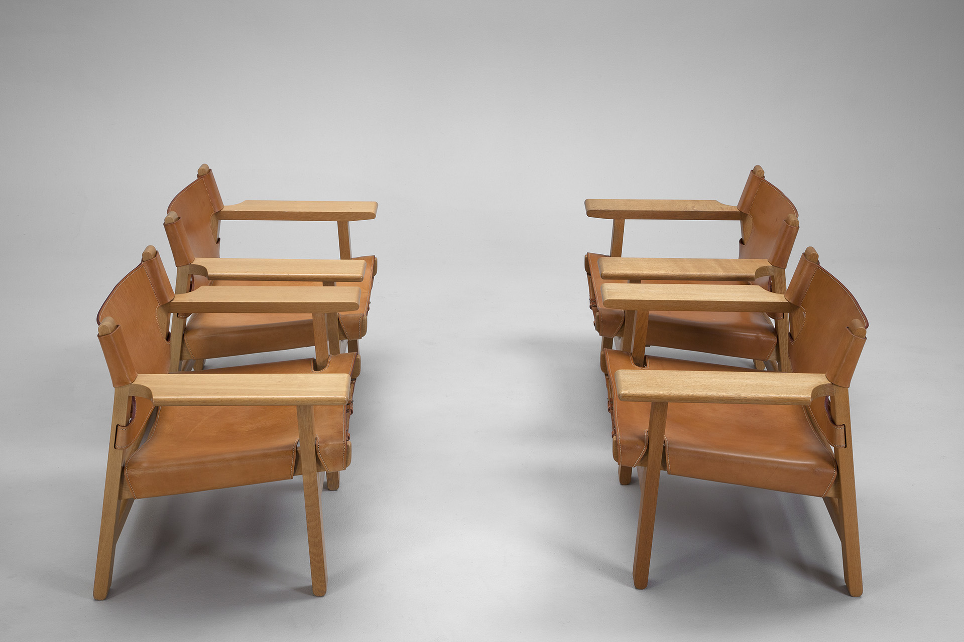 "Jacksons Four ""Spanish"" Chairs B¸rge Mogensen"