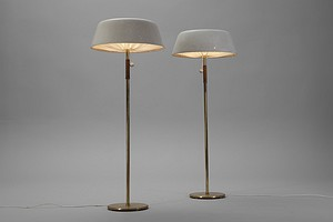 Pair of Paavo Tynell Floor Lamps