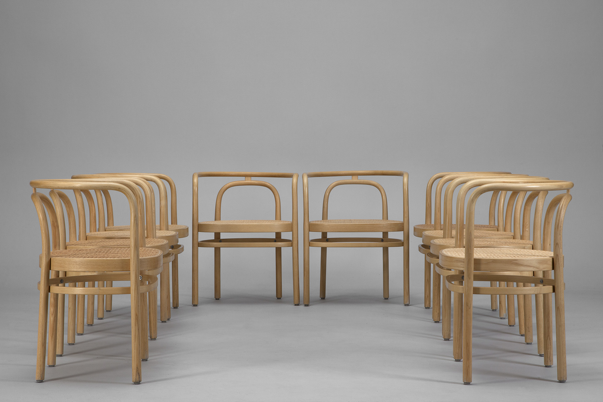 "Set of Ten ""PK-15"" Dining Chairs"