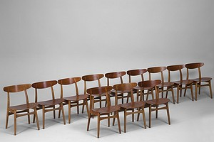 "Twelve ""CH 30"" Chairs"