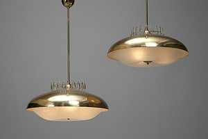 Pair of Finnish Ceiling Lamps