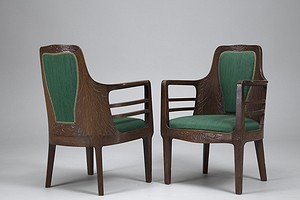 Pair of Arts and Crafts Armchairs