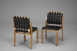 Pair of Y-Leg Chairs