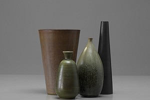 Group of Stoneware Vases
