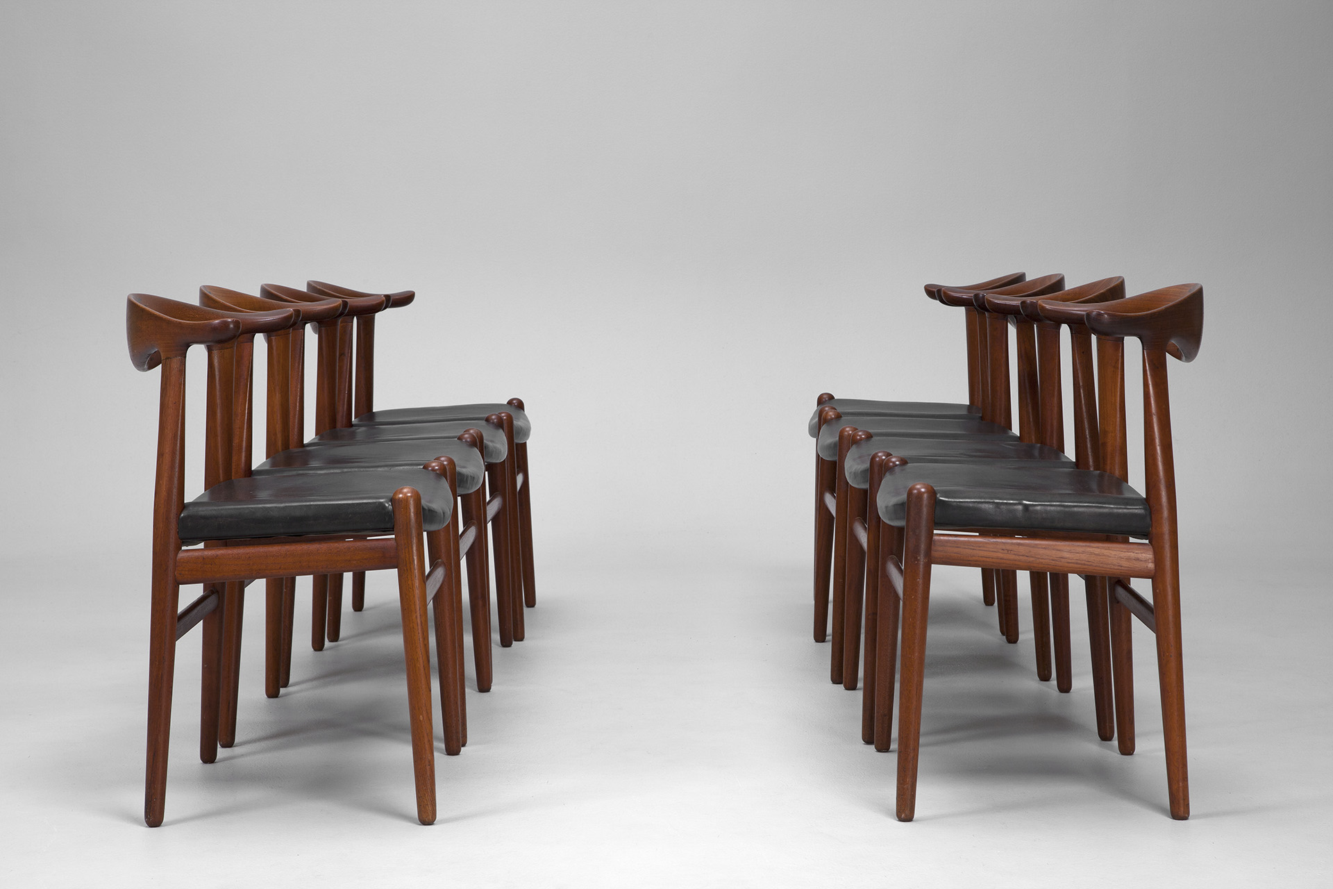 Set of Eight 'Cowhorn' Chairs