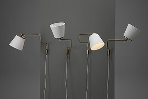 Four Adjustable Wall Lamps