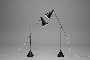 "Pair of ""K10-11"" Floor Lamps"