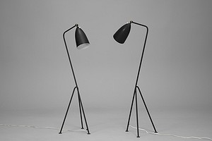 "Pair of ""Grasshopper"" Floor Lamps"