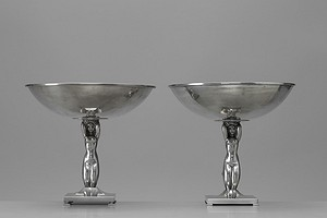 Pair of Neoclassical Tazzas
