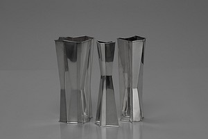 Group of Three Vases