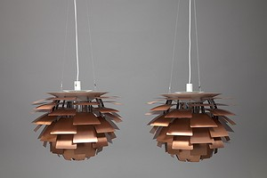 "Pair of ""Artichoke"" Ceiling Lamps"
