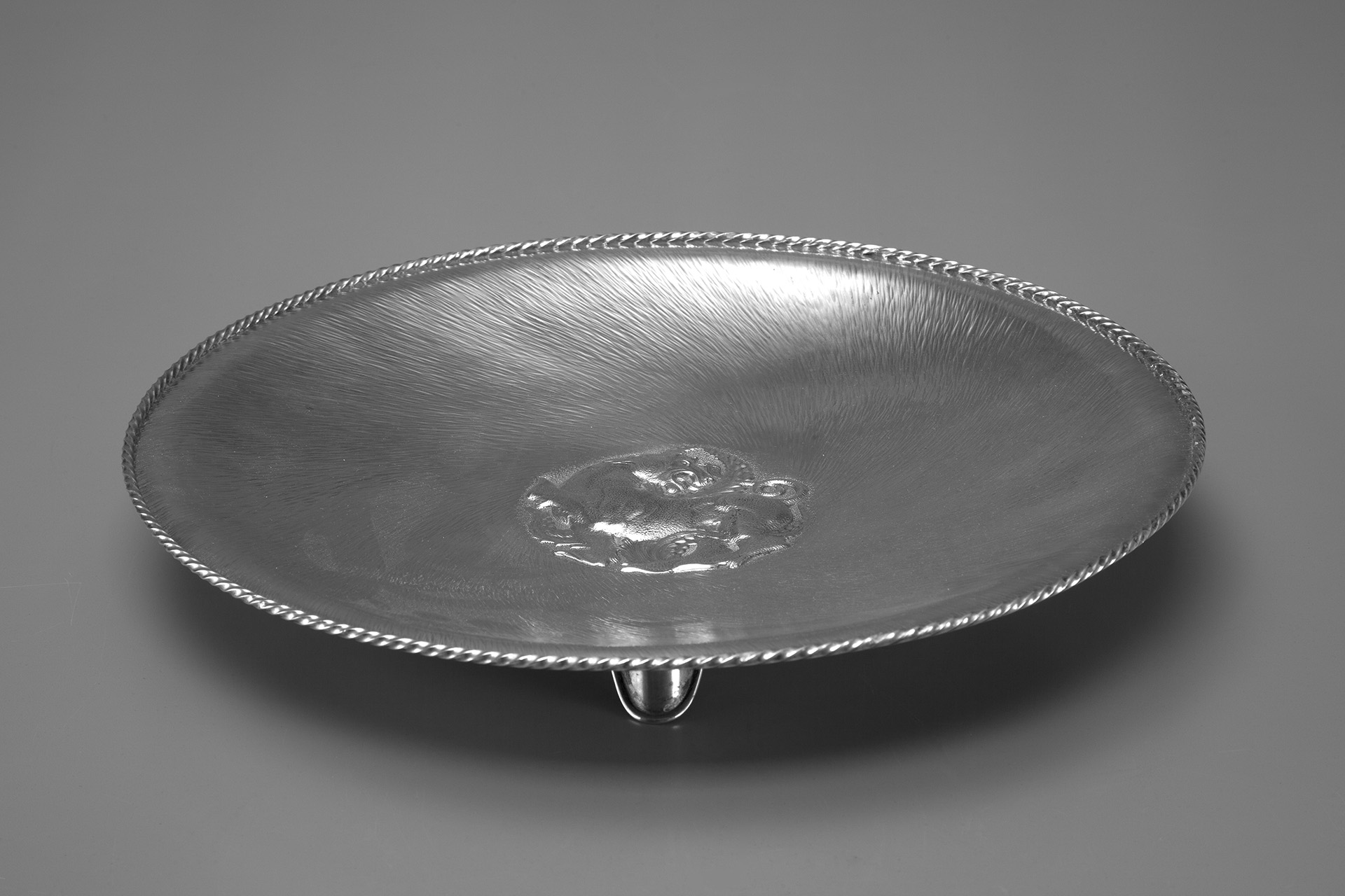 Large Silver Shallow Bowl
