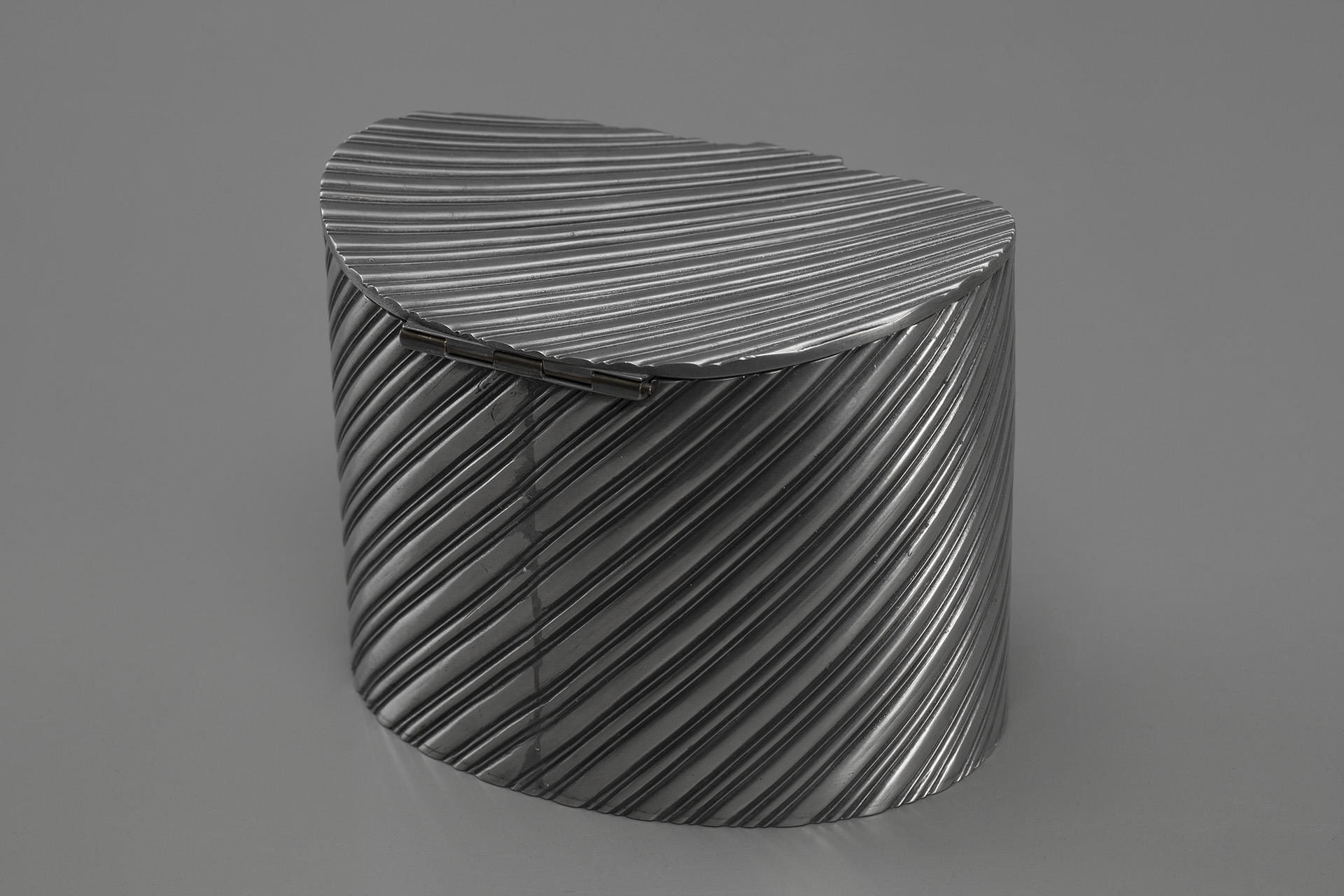 Lidded Pewter Box