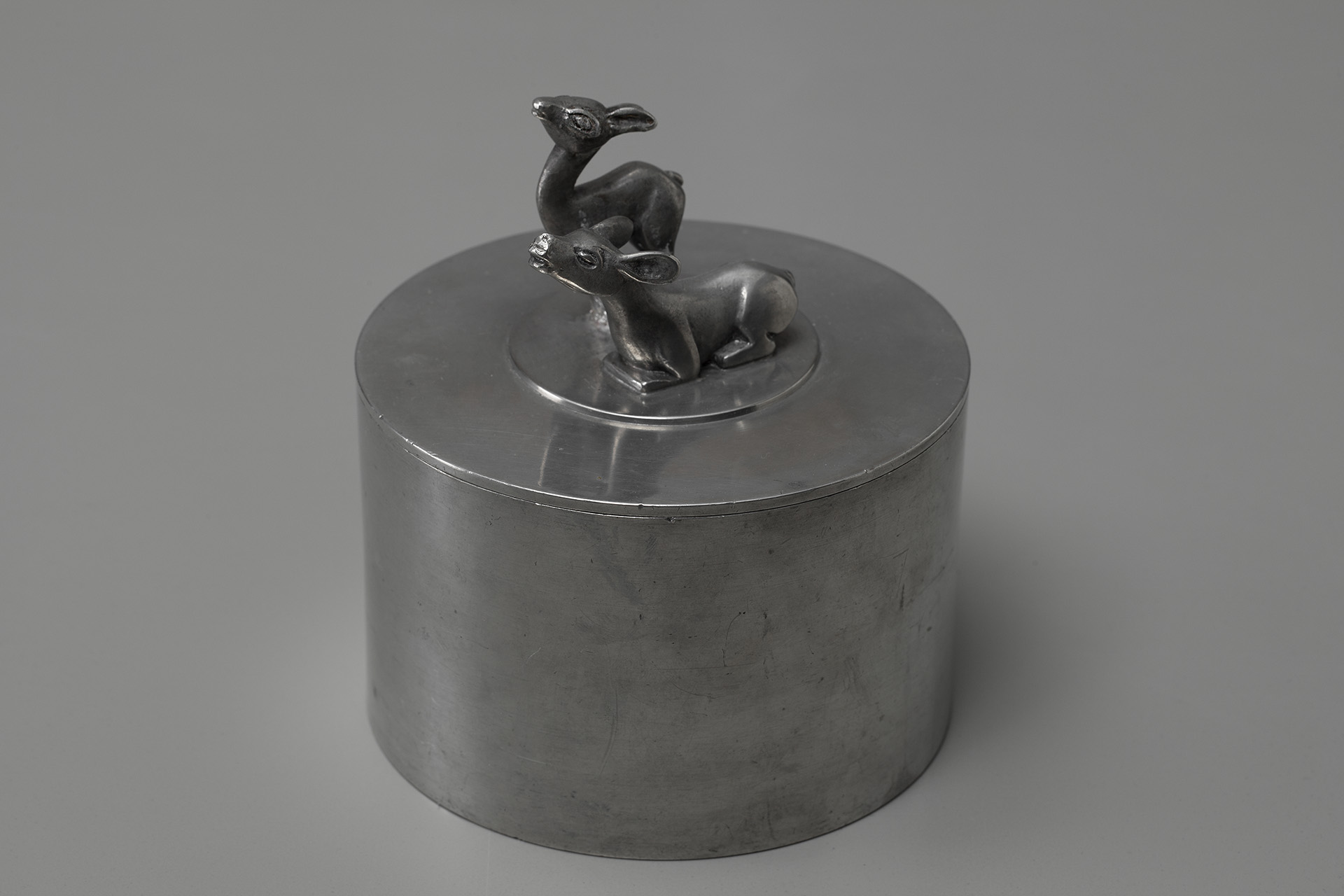 Pewter Jar With Lid