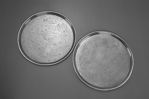 Pair of Pewter Trays