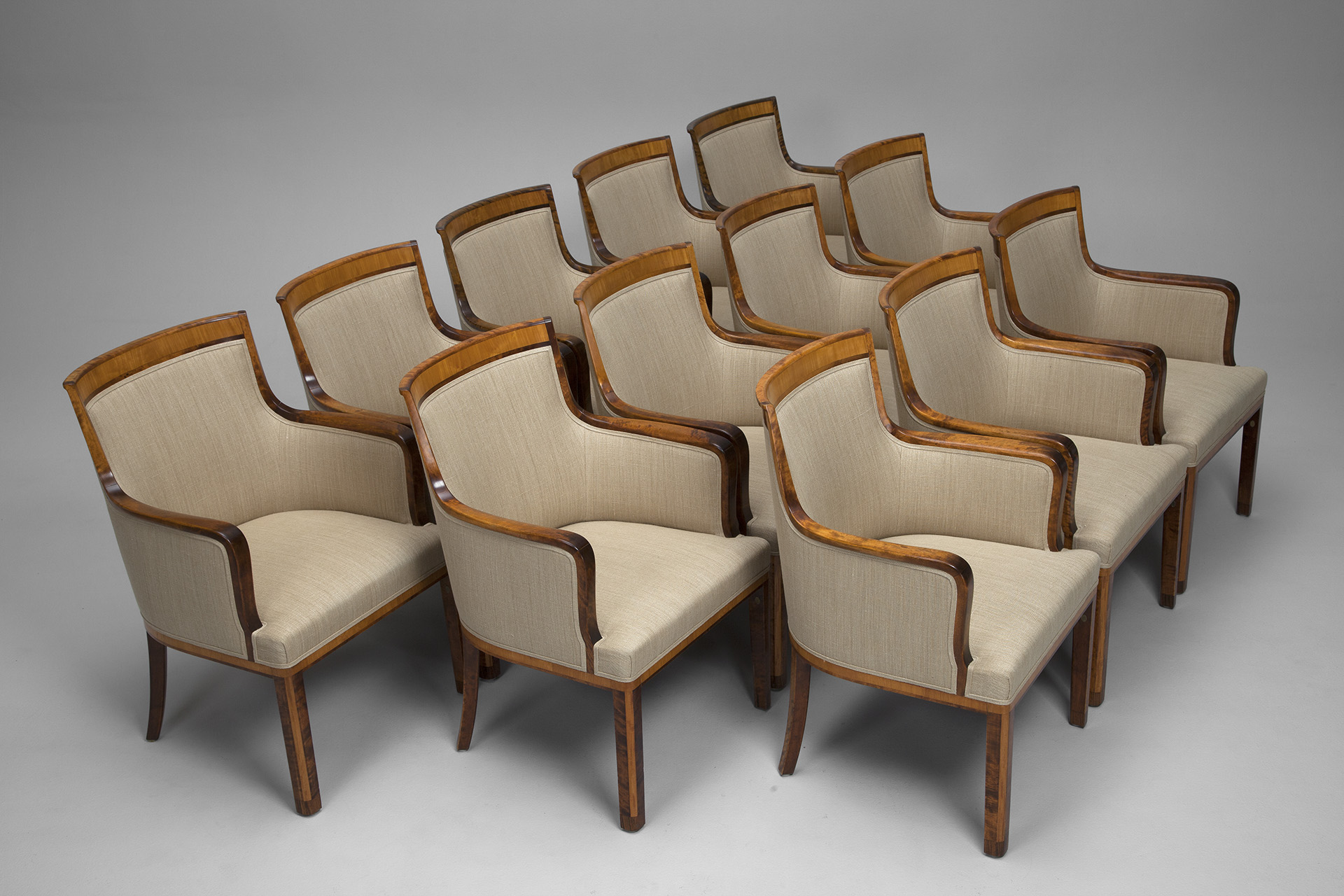 Set of Twelve Dining Chairs