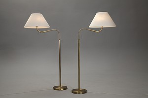 "Pair of The ""Large Camel"" Floor Lamp"