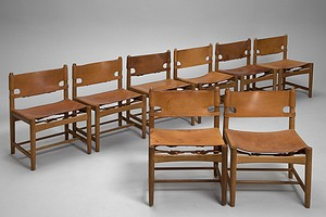 "Set of Eight ""Hunting"" Chairs"