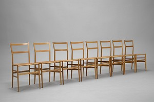 "Set of Eight ""Super Leggera"" Chairs"