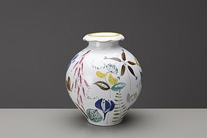 Vase with Scalloped Rim
