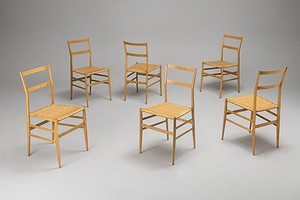 "Set of Six ""Superleggera"" Chairs"