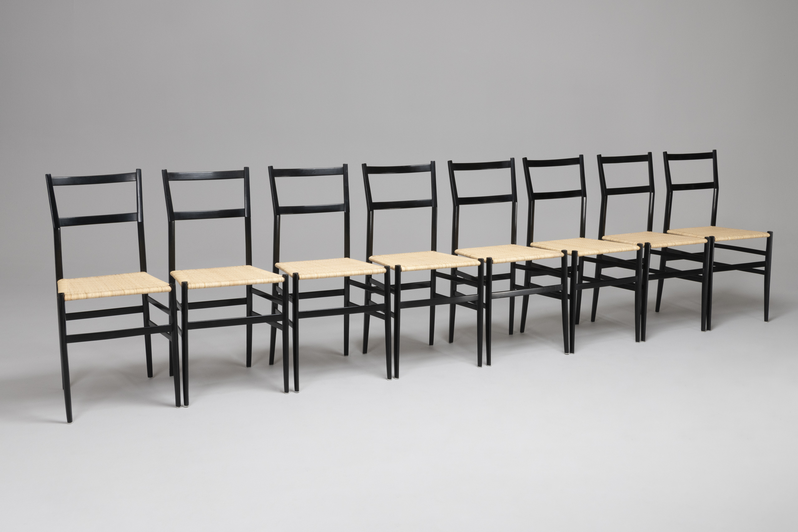 Set Of Eight 'Superleggera' Dining Chairs, Model No. 699