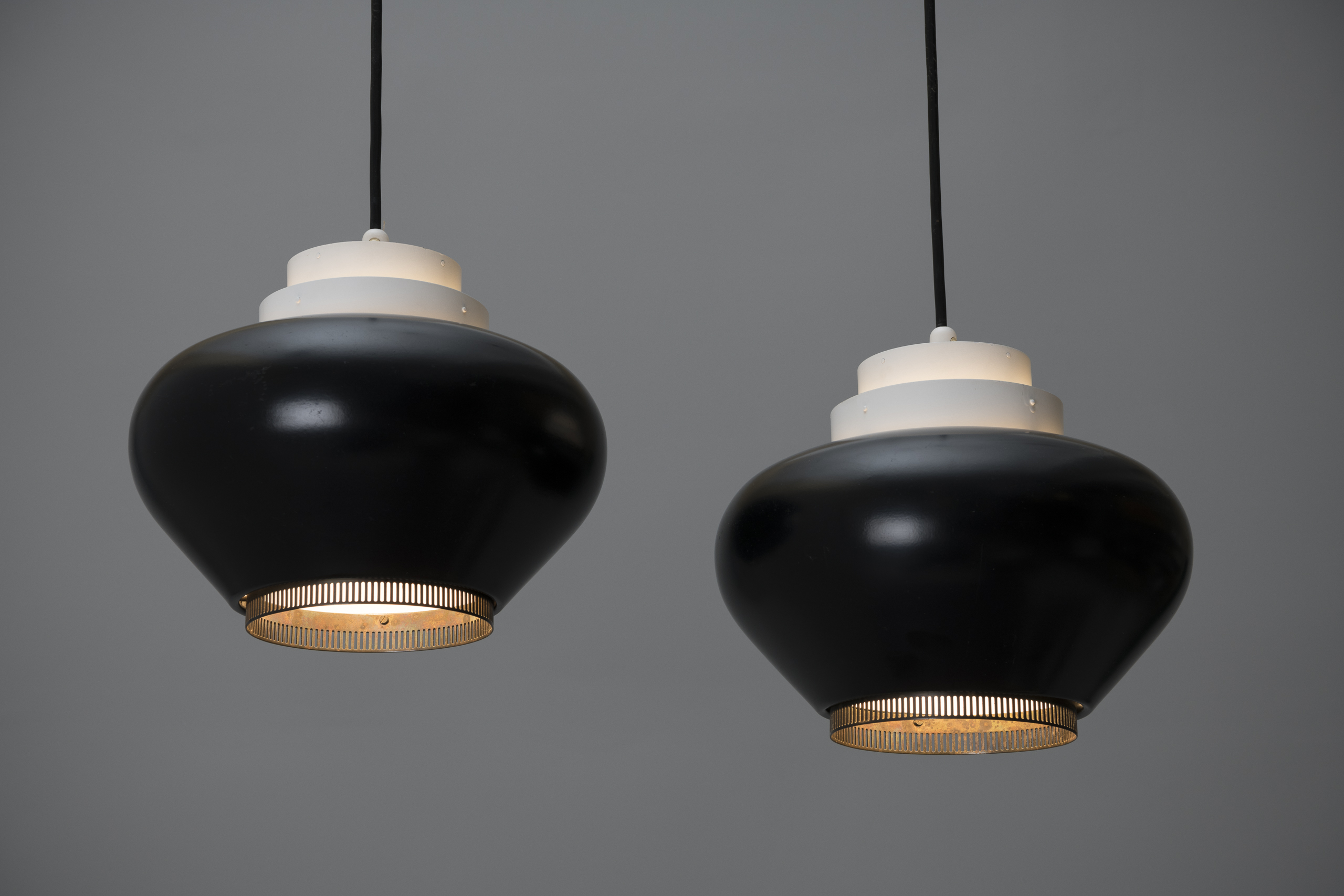 Pair of Ceiling Lamps, Model no. 'A 333'