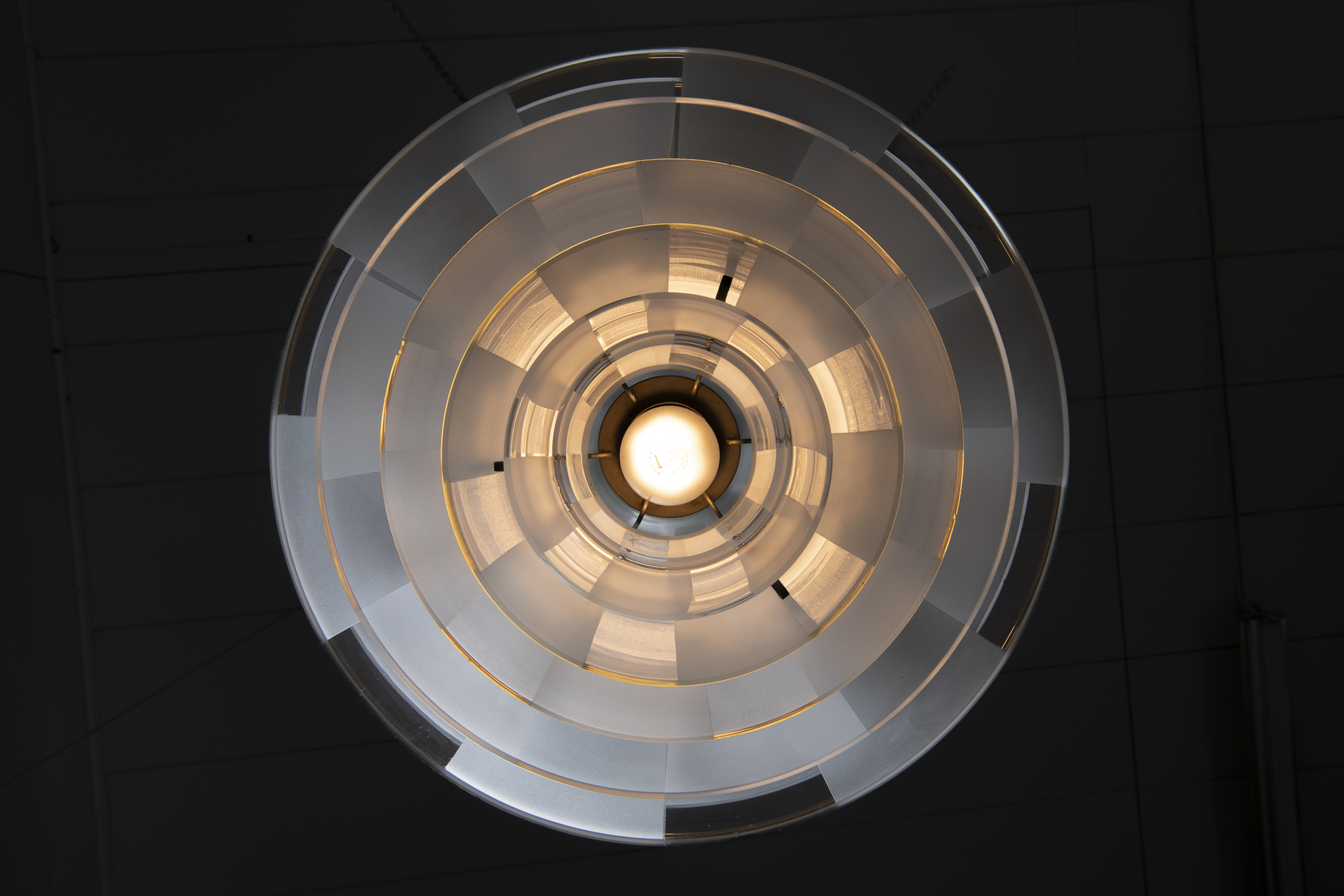 Rare 'Septima' Ceiling Lamp with Type 5 Shades