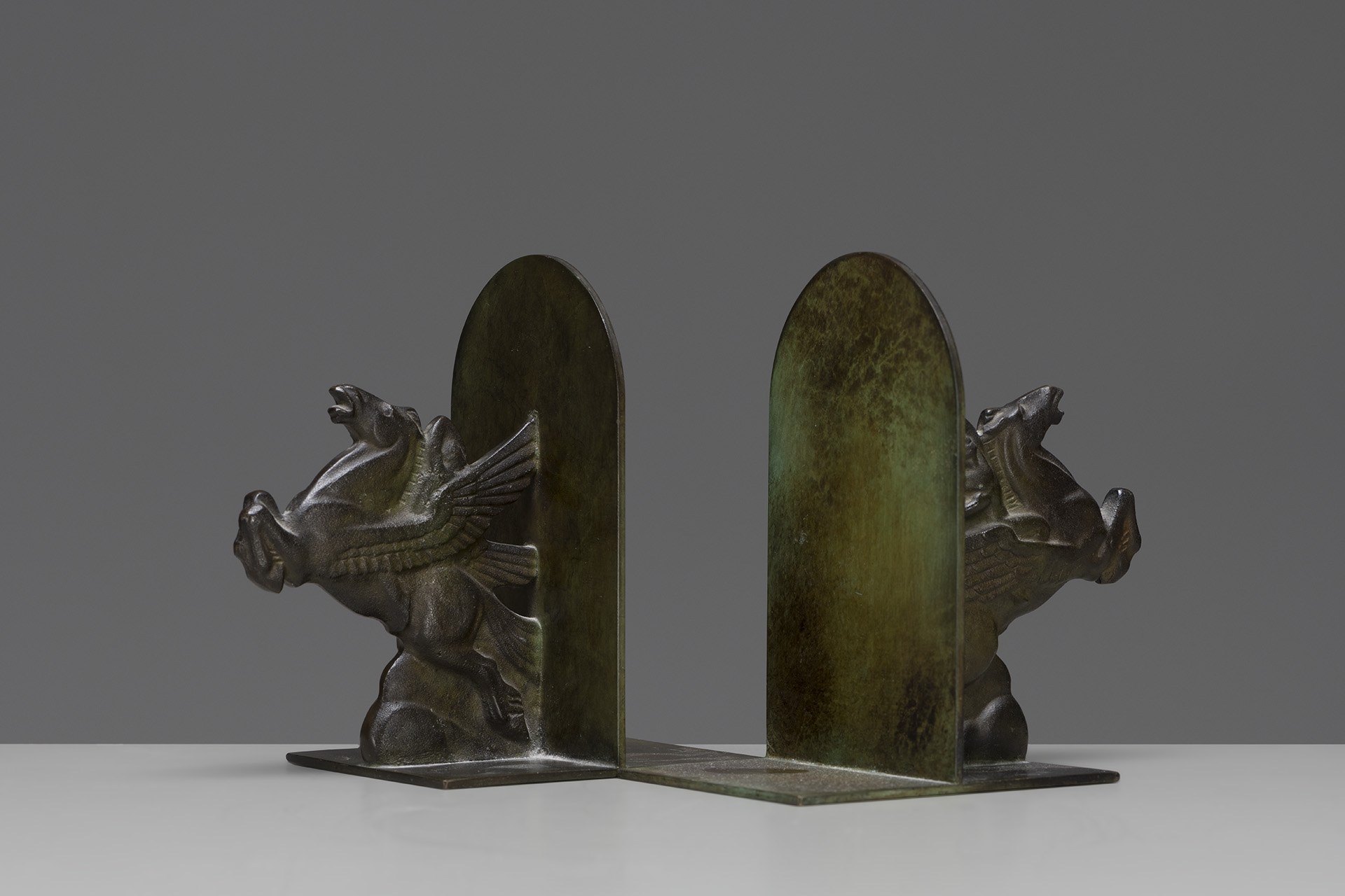 pair of bronze bookends