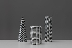 "Three ""Domino"" Vases"